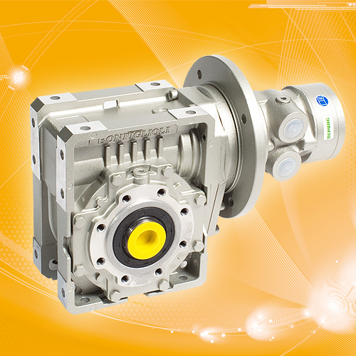 POWER LINE Airmotor with worm gearbox